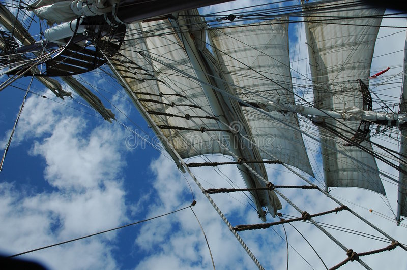 Download Mast of a Tall Ship stock image. Image of sail, tall, shoreline - 141175