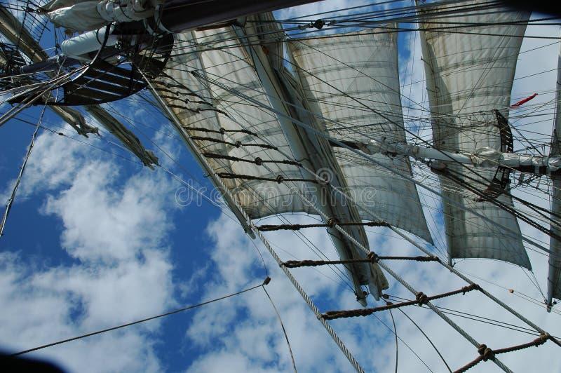 Mast of a Tall Ship royalty free stock photo