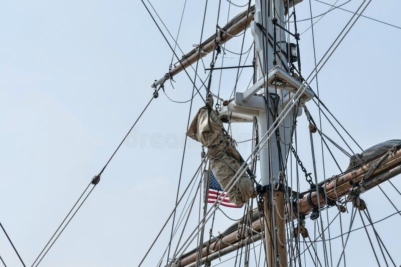 Mast of tall ship royalty free stock photography