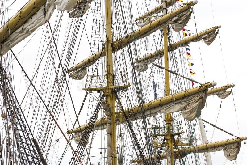 Mast van varend schip royalty-vrije stock foto's