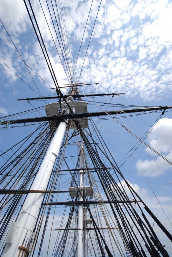Maste der USS Konstitution stockfotos