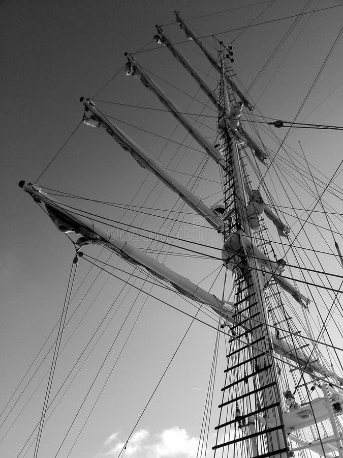 Maste des Schiffs stockbild