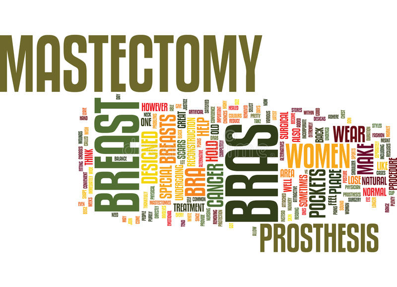Mastectomy Bras Can Give You Back Your Confidence And Shape Text Background Word Cloud Concept vector illustration