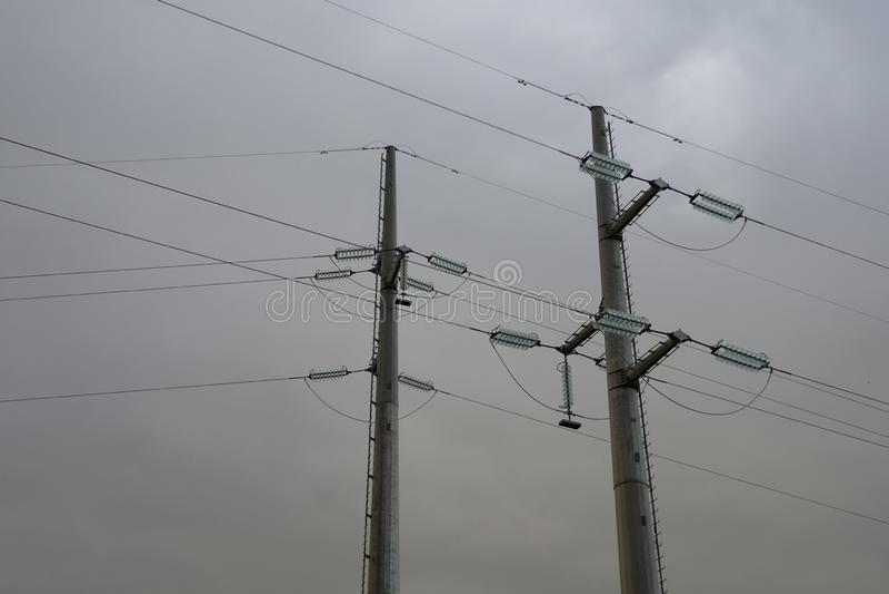 Masten des Stroms im Sturm lizenzfreies stockbild