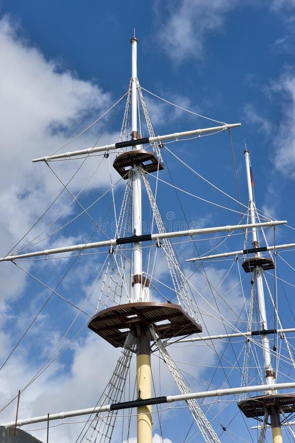 Masten van het schip stock foto's