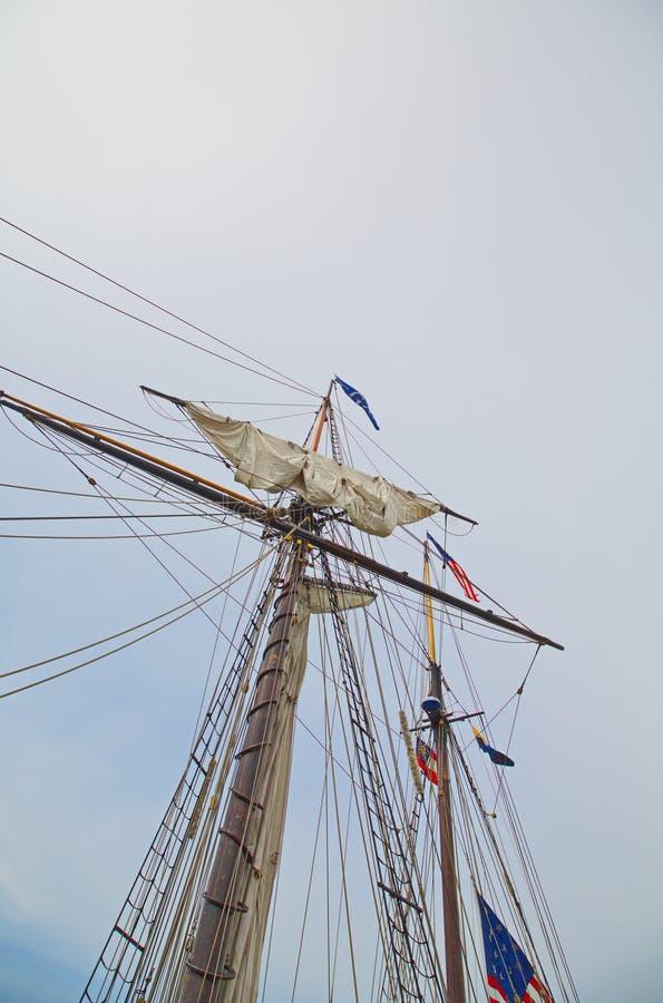 Master av det högväxta skeppet royaltyfria bilder