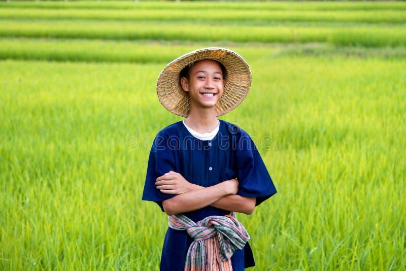 Happy farmer stock photos