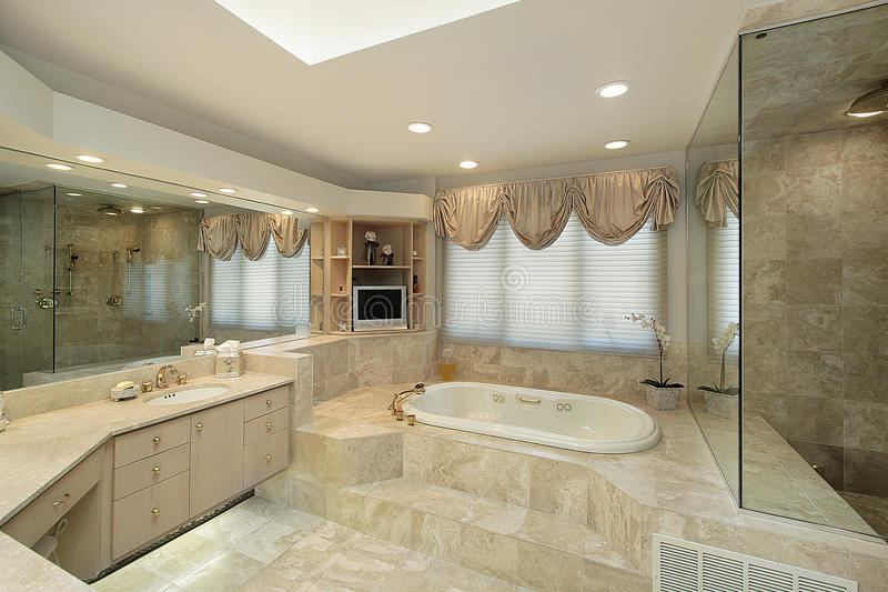 Master Bath With Step Up Tub Stock Photo Image Of