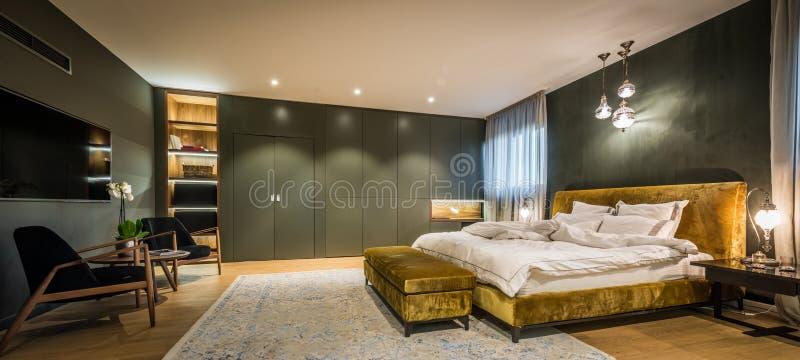 Master bedroom interior royalty free stock photo