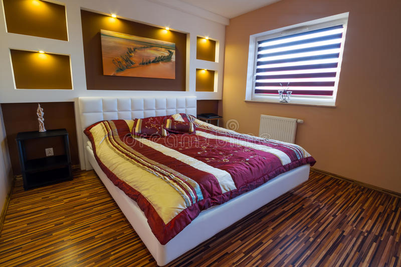 Download Master Bedroom Interior With Spotlights Stock Photo - Image: 27110650