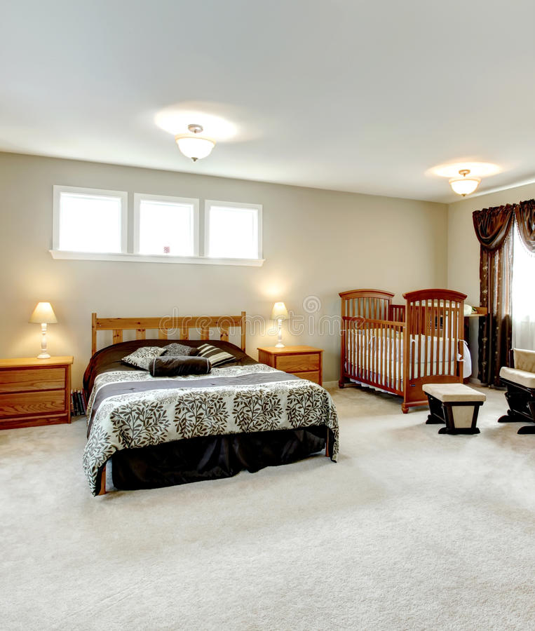 Master bedroom with a nursery area stock image image of design furnished 38708365 Master bedroom plus nursery