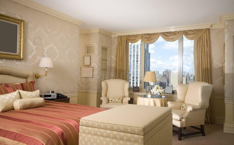 Master bedroom penthouse new york stock photo