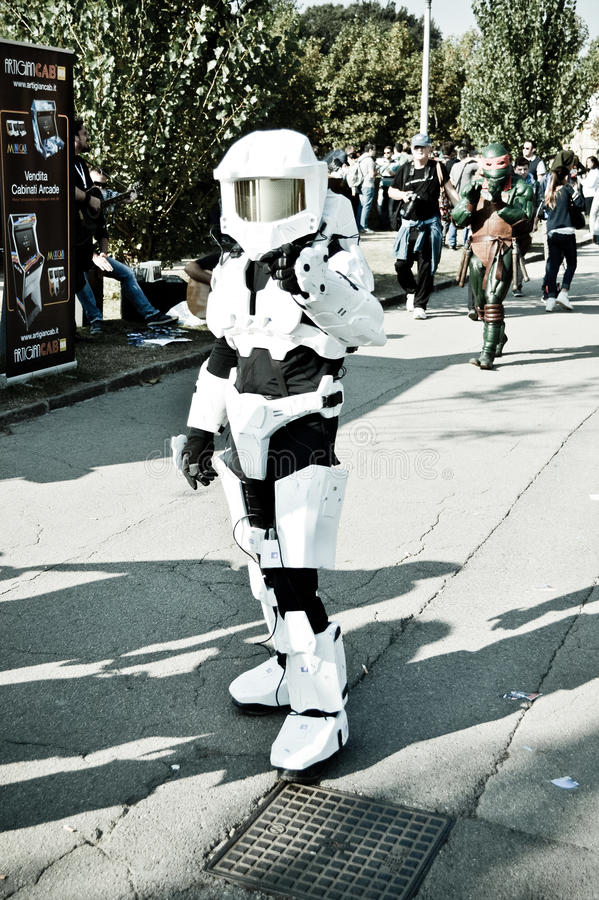 Master Chief at Lucca Comics and Games 2014 stock photography