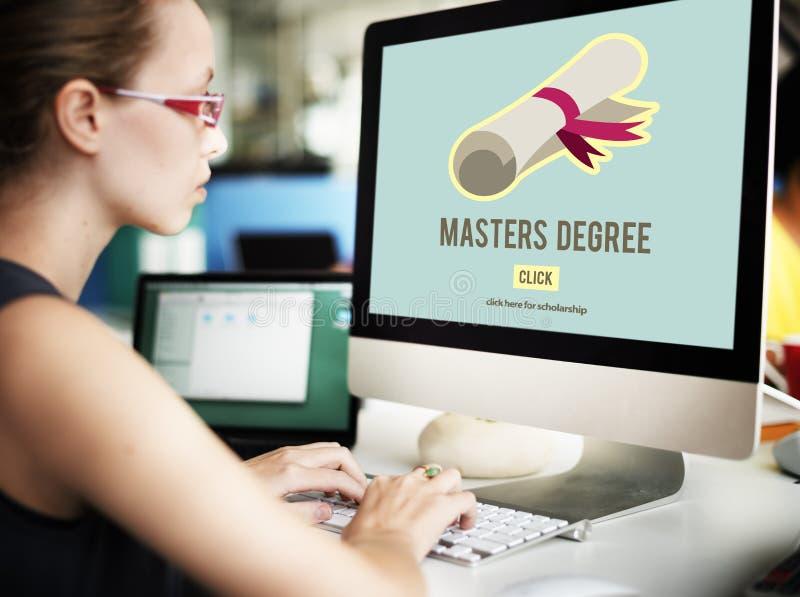 Master& x27; conceito da graduação da educação do conhecimento do grau de s fotos de stock