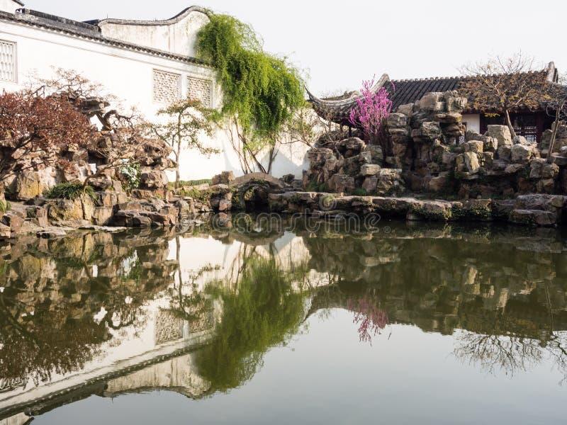 Master del giardino delle reti a Suzhou, Cina fotografie stock libere da diritti
