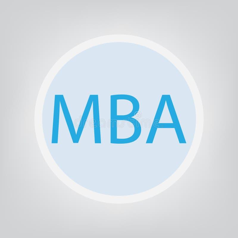 Master en administración de empresas de MBA ilustración del vector