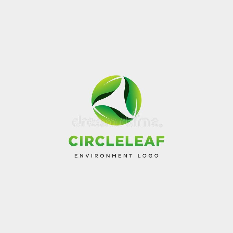 Master leaf circle abstract simple logo template vector illustration icon element. Vector royalty free illustration