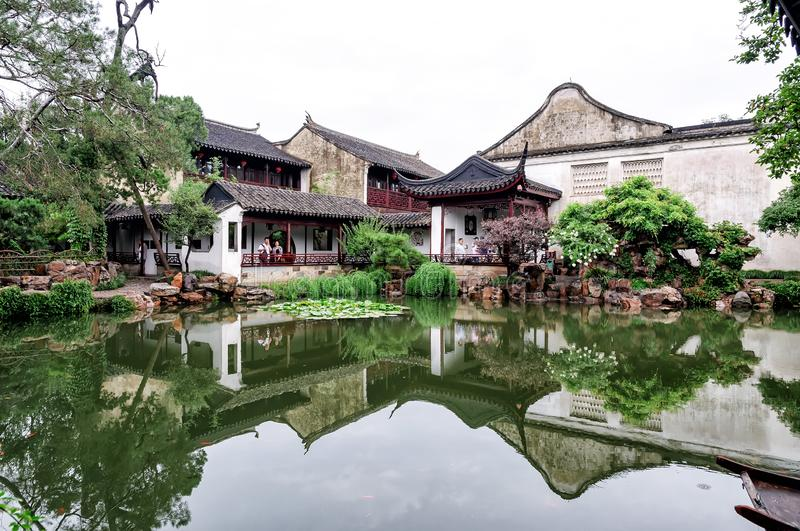 The Master of the Nets Garden in Suzhou, China stock photo