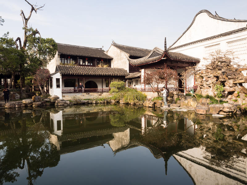 Master of the Nets garden in Suzhou, China stock images