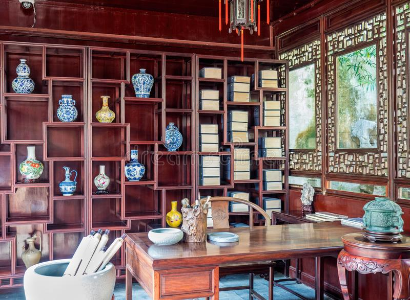 Chinese Traditional Study Room Editorial Stock Image - Image