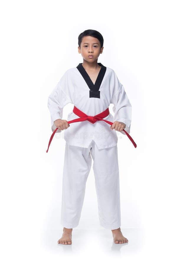 Free Master Red Belt TaeKwonDo Student Royalty Free Stock Photography - 150512257