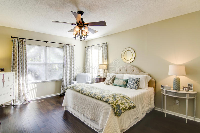 Modern Master Suite royalty free stock photo