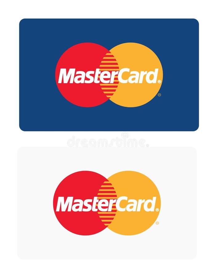 Mastercard-embleem stock illustratie