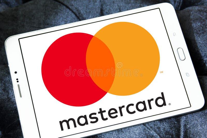 Mastercard-embleem royalty-vrije stock afbeeldingen
