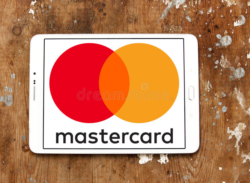 Mastercard logo royalty free stock photography