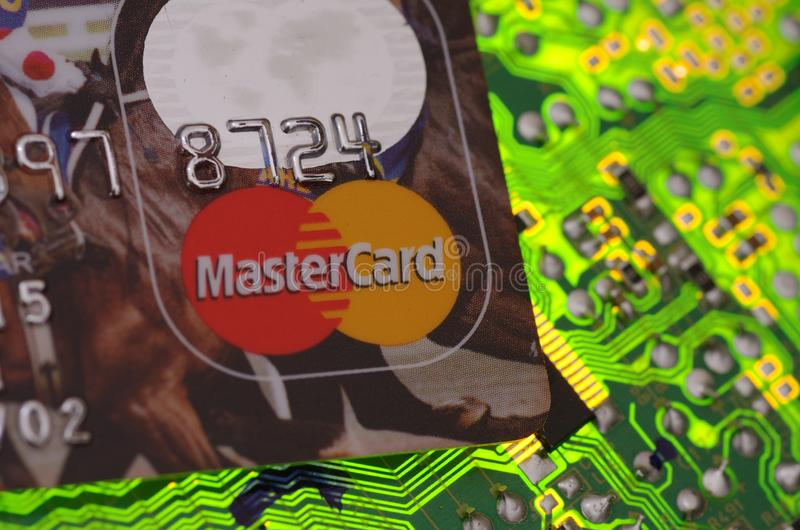 MasterCard logo stock photo