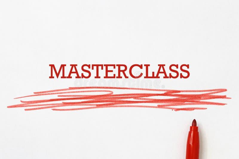 Masterclass on paper royalty free illustration