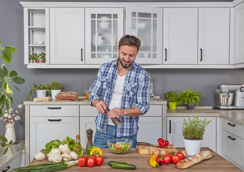 Mastering the food preparation royalty free stock image