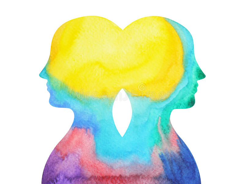 Mastermind insieme, potere di chakra, pensiero astratto di ispirazione, universo del mondo dentro la vostra mente illustrazione di stock
