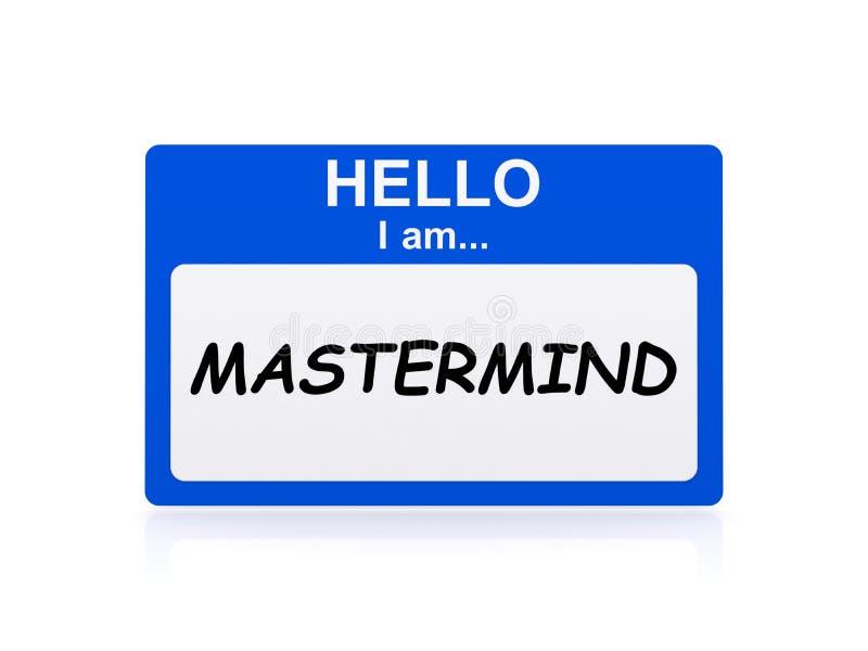 Mastermind tag. On white background royalty free illustration