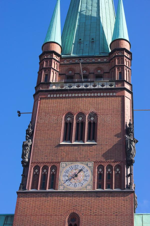 St. John`s Cathedral - IV - Hamburg - Germany. A masterpiece of the hanseatic brick gothic- the St. John`s Cathedra in Hamburg - shot in 2014 royalty free stock photo