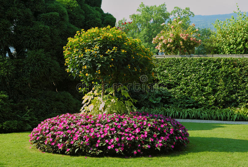 A masterpiece of landscape art.The flower beds royalty free stock images
