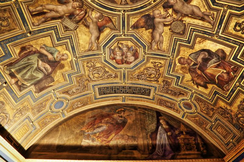 Masterpieces in Uffizi gallery, Florence, Italy royalty free stock images