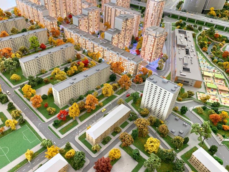 Masterplan projekt Podtrzymywalny miasto zdjęcie stock