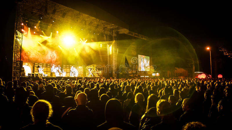 Masters of Rock. A rock/metal concert, Masters of Rock 2015 festival stock images
