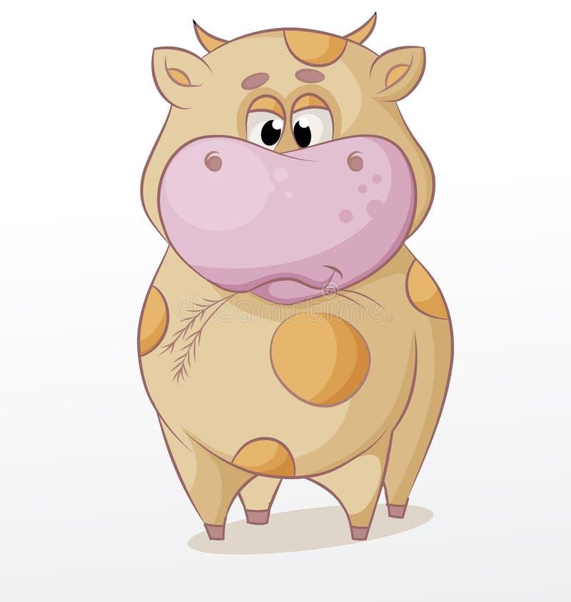 Masticación del toro ilustración del vector
