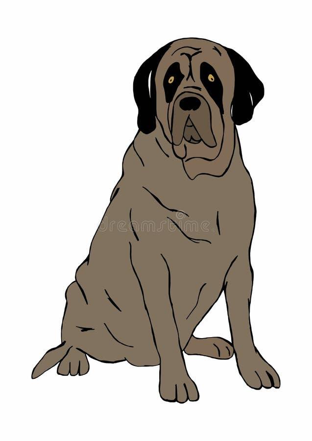 mastiff illustration de vecteur