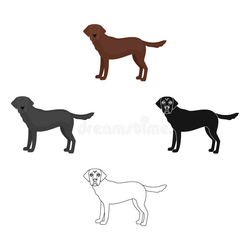 Mastiff, icône simple dans la bande dessinée, style noir Mastiff, Web d'illustration d'actions de symbole de vecteur illustration de vecteur