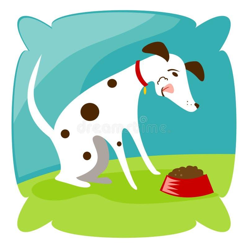 Mastigação do filhote de cachorro ilustração royalty free