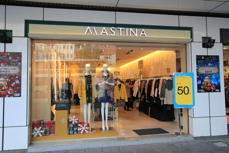 Mastina shop in hong kveekoong. Mastina shop, located in Tsim Sha Tsui, Hong Kong. mastina is a clothes retailer in Hong Kong royalty free stock photography