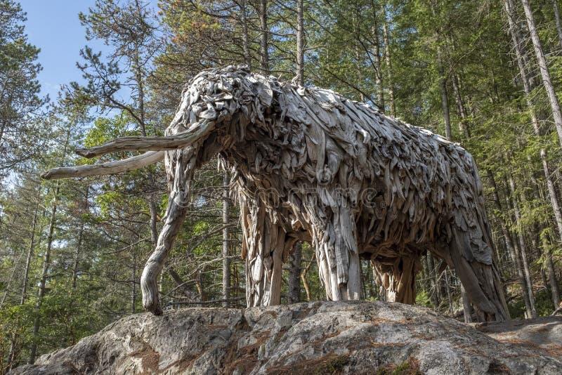 Mastodonte d'île de Bowen par l'artiste Guthrie Gloag photographie stock libre de droits