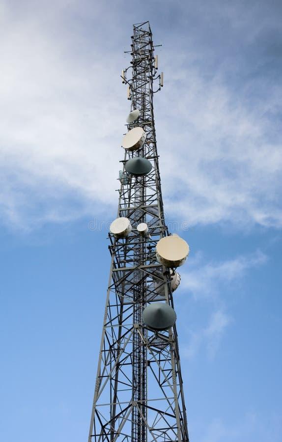 Mastro da antena de rádio foto de stock