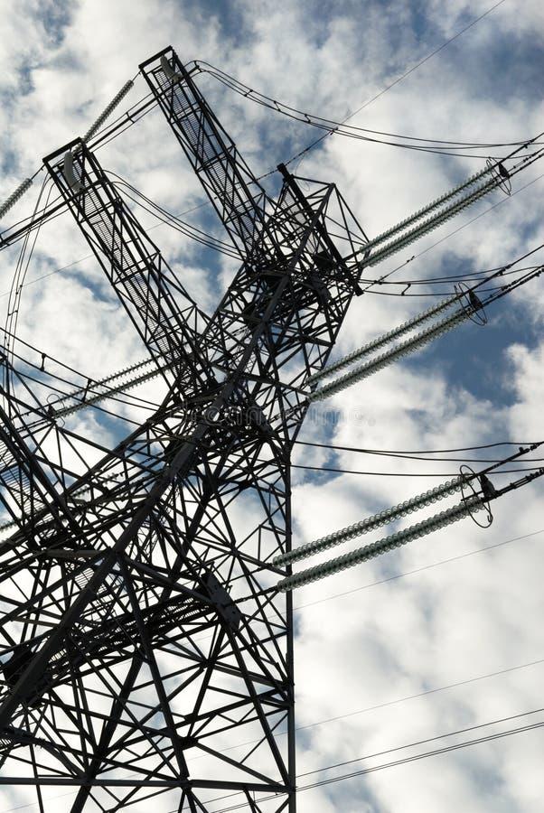 Mastro da energia eléctrica fotos de stock