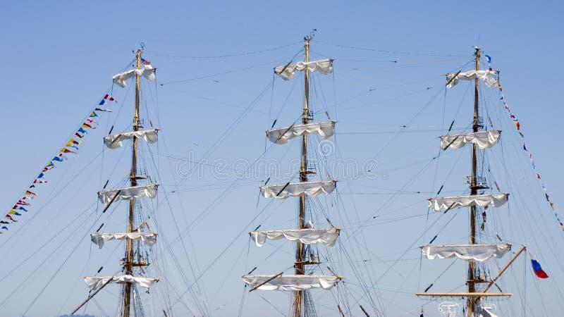 Mastros 1 dos navios foto de stock