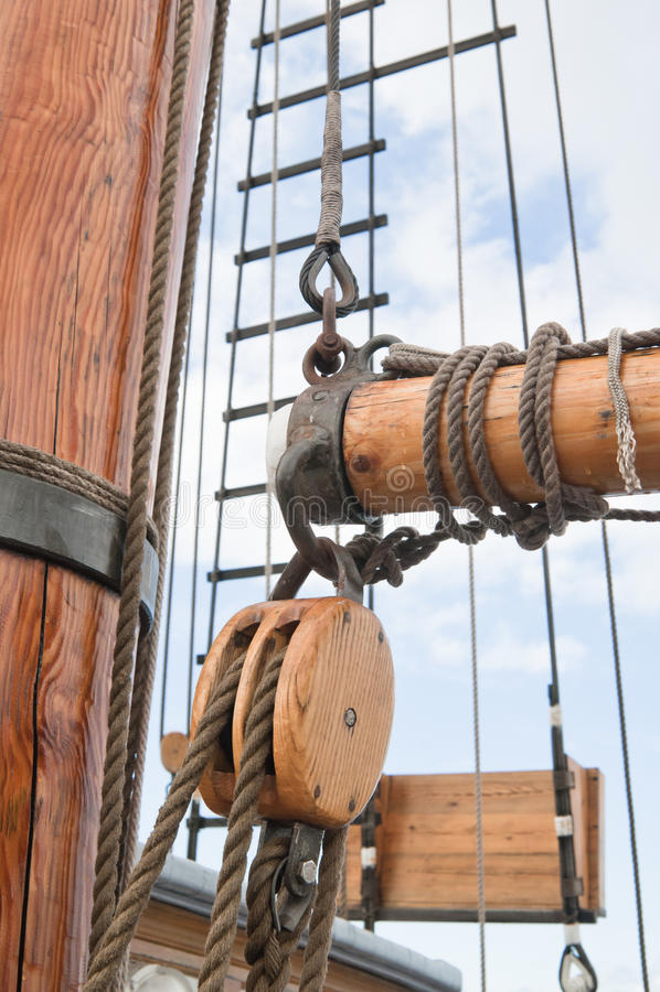 masts seglar arkivfoton