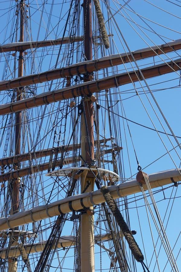 mastsships royaltyfri bild